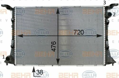 8MK 376 701-341 HELLA Radiator  engine cooling