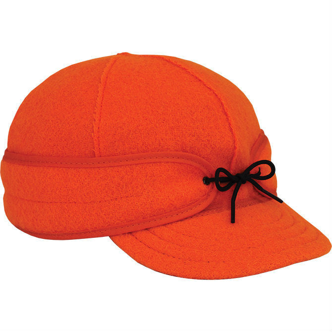 7 1  8 Original Men's Stormy Kromer Wool Hat Cap Blaze orange Made in the USA  inexpensive