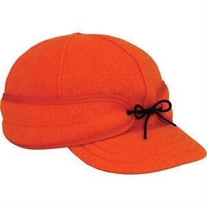 7 3 8 Original Men s Stormy Kromer Wool Hat Cap Blaze Orange Made in ... 50e9622ea273