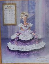 Annie Attic 1997 Royal Ballgowns Barbie Fashion January Crochet Bed Doll Pattern