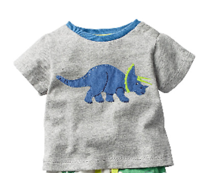 3 years shirt Mini Boden top baby boys applique tee top shirt new ages 0 month
