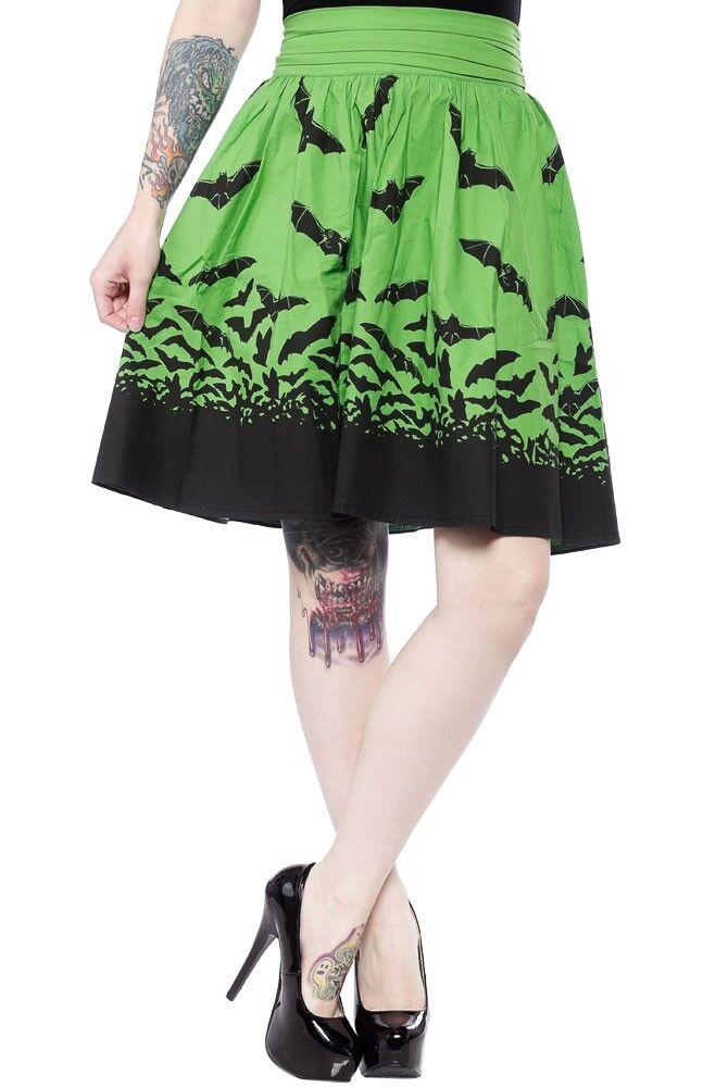 Sourpuss Bats Spooksville Adulto Punk Goth Scena Emo Rock verde verde verde Gonna SPSK57 478d96