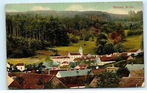 Blumau-N-Oe-Austria-Town-View-in-Beautiful-Valley-Old-Vintage-Postcard-C20