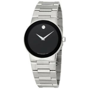 Movado-Swiss-Men-039-s-0605803-Safiro-Stainless-Steel-Bracelet-Slim-Watch