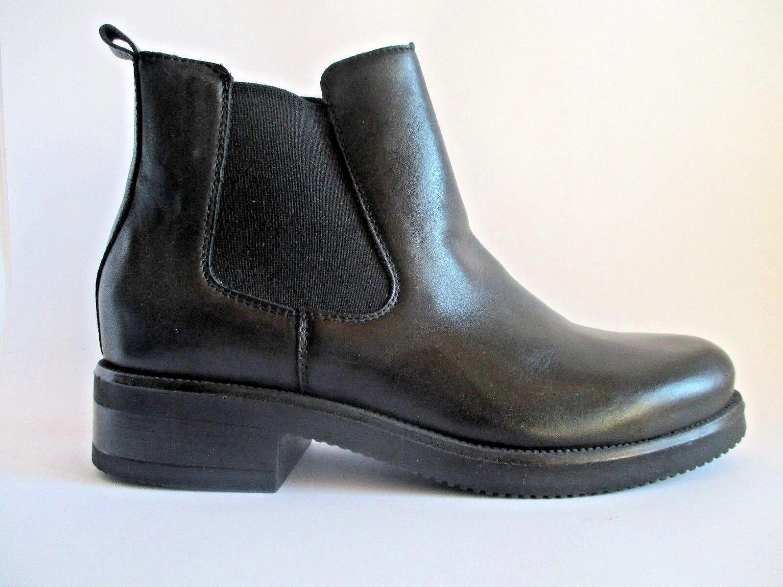 ZIGN Leder Klassische Halbschuhe Ankle Chelsea Boot Leder ZIGN Schwarz Gr.40  C1 e4b9f0