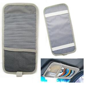 12-Disc-Capacity-CD-Car-Sun-Visor-Storage-Dvd-Holder-Grey-Pocket-Case-Organizer