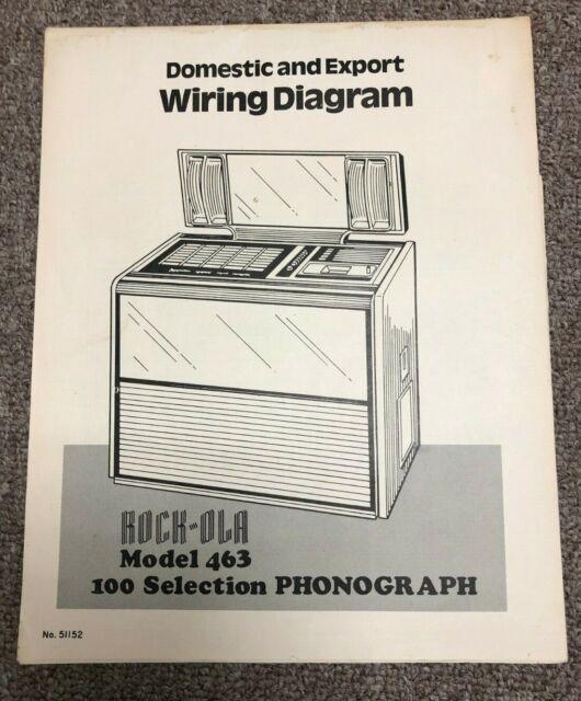 Arcade Rock Ola Jukebox Model 463 Phonograph Wiring