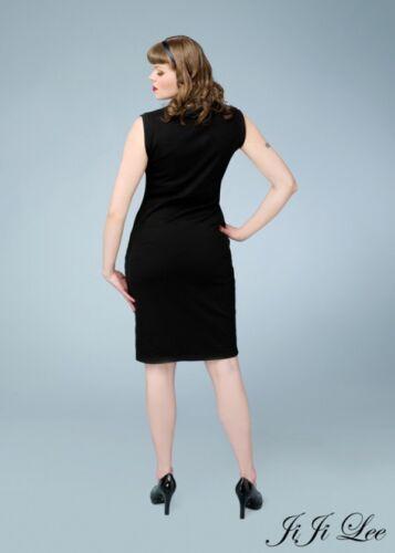 Taille Crayon Wiggle Manche Black Dress Sans 14 4w8IxzqZtI