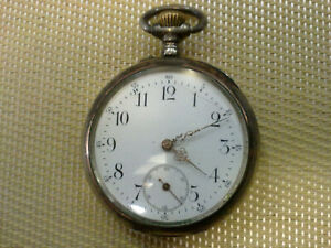 RARE-VINTAGE-SWISS-SILVER-POCKET-WATCH