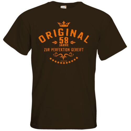 Original 58 Jahre zur Perfektion .. T-Shirt RAHMENLOS® Geschenke getshirts