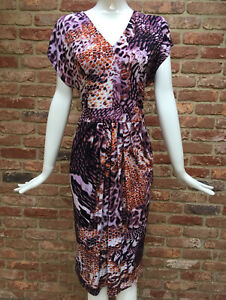 Trinny-And-Susannah-Stretch-Multi-Animal-Print-Bodycon-Dress-Size-16