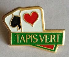 Tapis Vert Spaces Hearts Cards Pin Badge Rare Vintage Advertising (F10)