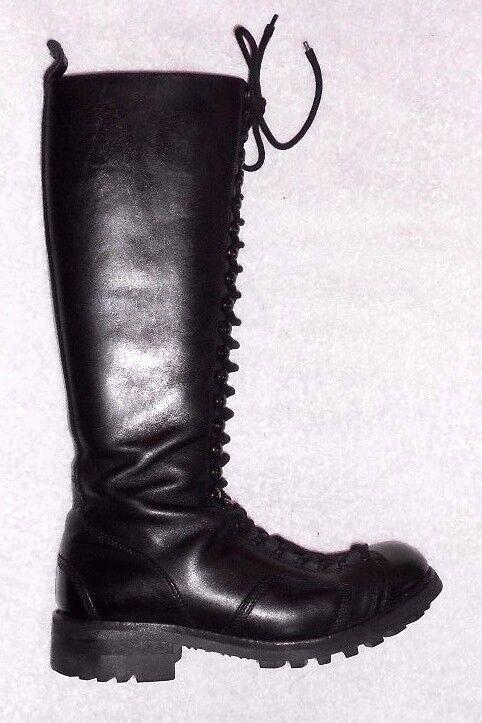 JEAN –BAPTISTE RAUTUREAU bottes à lacets cuir black P 40 TBE