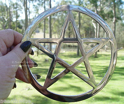ALTAR PENTACLE Wicca Pagan Witch Goth METAL ALTAR RITUAL TOOL ALTAR PENTAGRAM