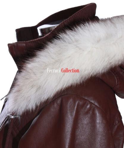 Ladies Sale' Læder Lambskin Clearance Matilda Brown Hooded Jakke 'Warehouse 8Kq5xUAwR1