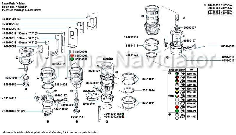 AQUASIGNAL Ersatzglas 40 weiß für Topplaterne Aquasignal 40 Ersatzglas 088938