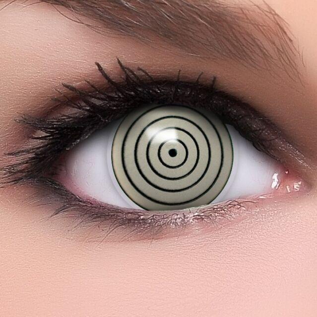 "Farbige Fun Crazy Kontaktlinsen ""Rinnegan"" + GRATIS Behälter Sharingan Anime"