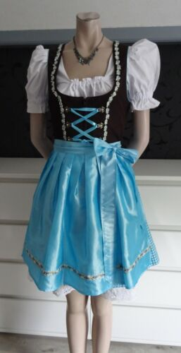 Dirndl Authentic German Dress Blouse Apron Undersk