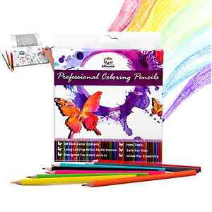 PREMIUM COLORED PENCILS - Quality Color Pencil Set for Adults - 48 Rich Charcoal