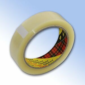 6 x 3M Clear Parcel Packing Tape 25mm x 66M