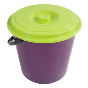 Bucket-with-Lid-5L-Water-Cleaning-Trash-Can-Diaper-Pail-Plastikeimer