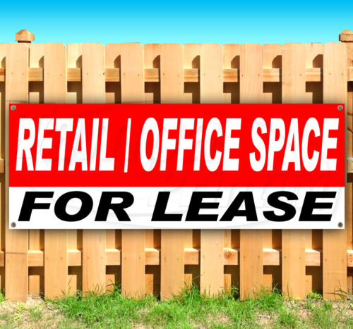 RETAIL OFFICE SPACE FOR LEASE Advertising Vinyl Banner Flag Sign Many Sizes USA