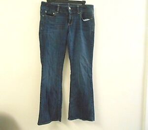 American-Eagle-Women-039-s-Size-8-Short-Dark-Wash-Boot-Cut-Denim-Blue-Jeans-Pants