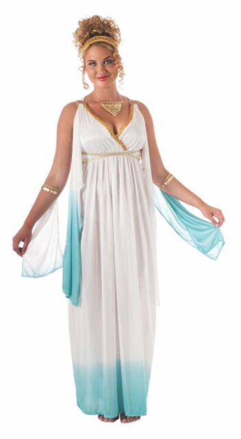 White Grecian Goddess Plus Size Ladies Adult Costume, Rubies 17785