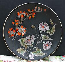 """Grosser Keramik Wandteller von Ruscha art - Handarbeit  """" Blumenmotiv """" !!!"""
