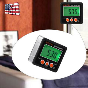 Magnetic LCD Digital Protractor Angle Finder Bevel Level Box Inclinometer Meter
