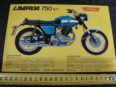 Pubblicita' Moto Laverda 750 Gt 750 S 1 Pagina Con Timbro Old Bike Italy Acquista Ora
