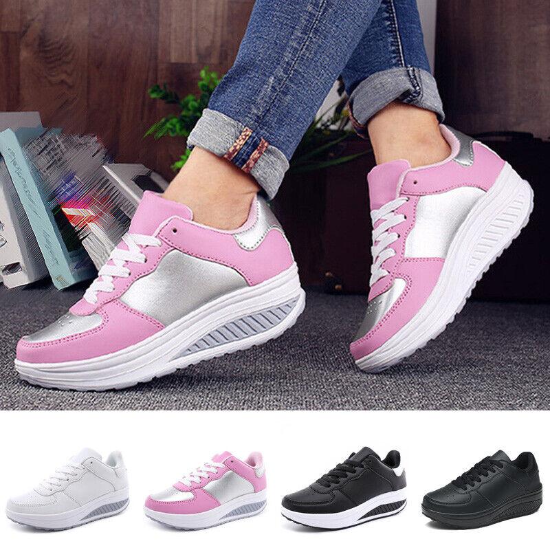 Damen Sneakers Joggen Sneakers Wasserfest Plateau
