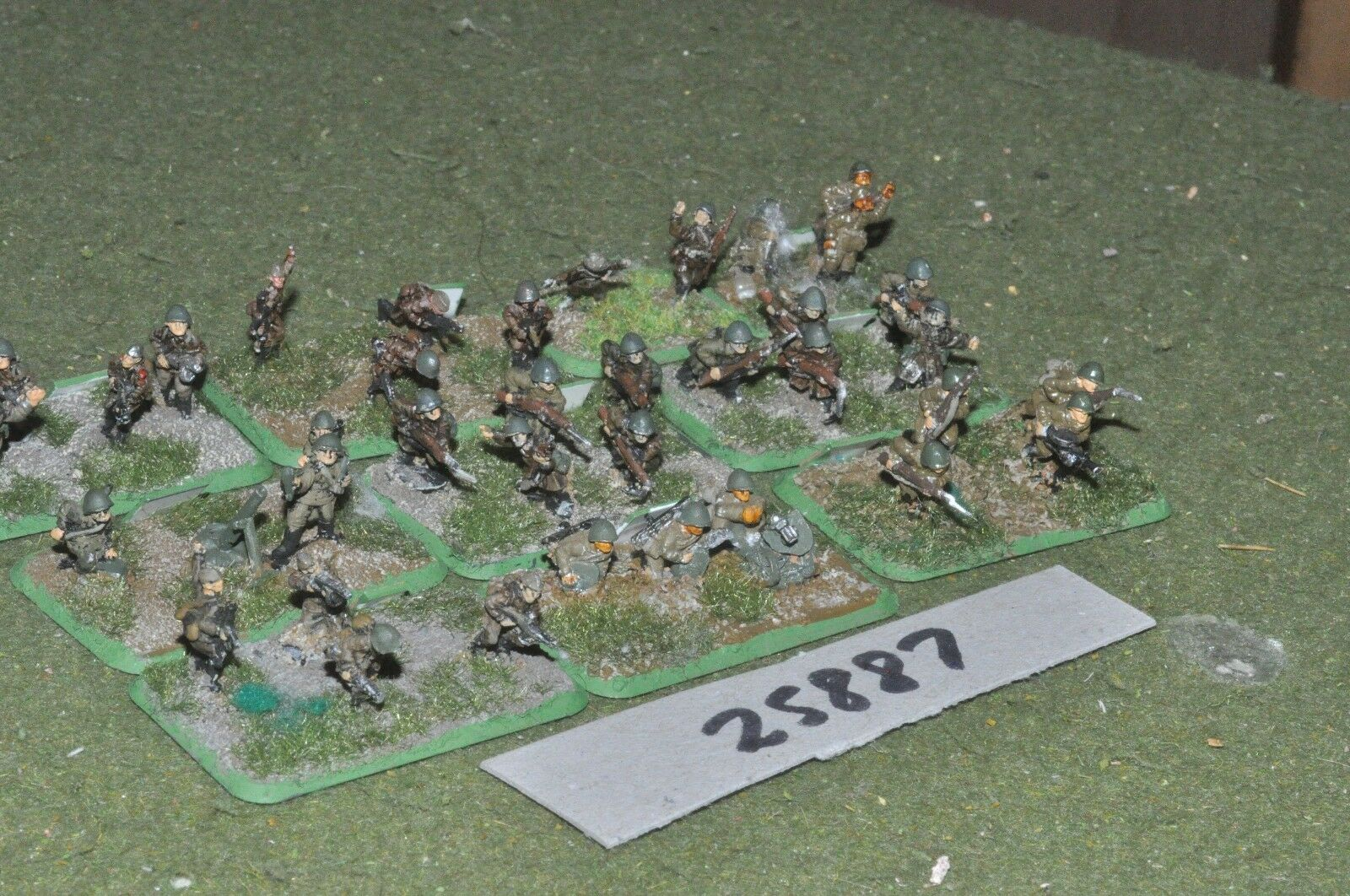 15mm WW2   russian - platoon 36 figures - inf (25887)