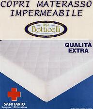 COPRIMATERASSO 1 piazza e mezza IMPERMEABILE 1/2 sanitario botticelli cotone