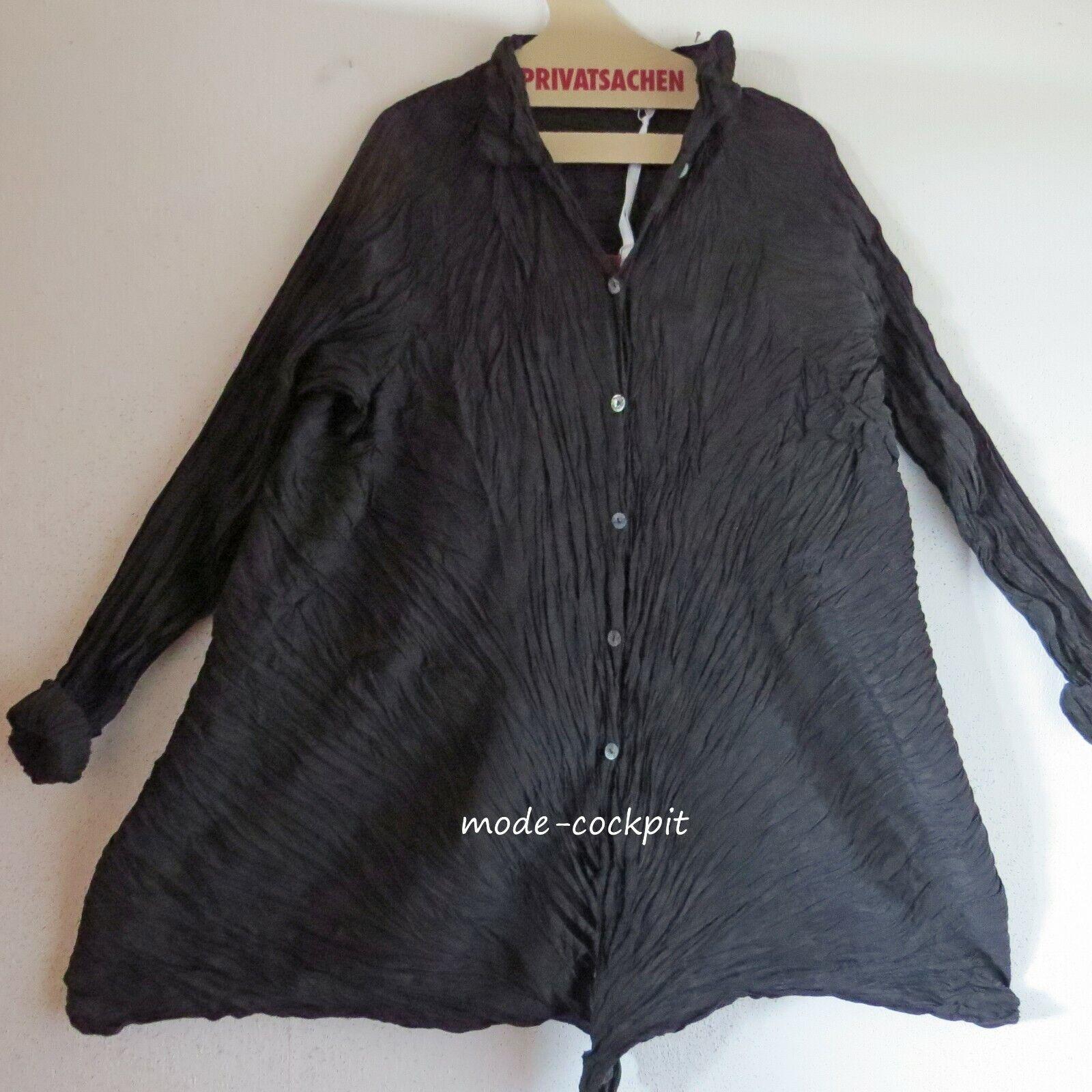 Cocon merz PRIVATSACHEN süße Long Blause A-Linie Wäscheseide schwarz 48-52 (3)