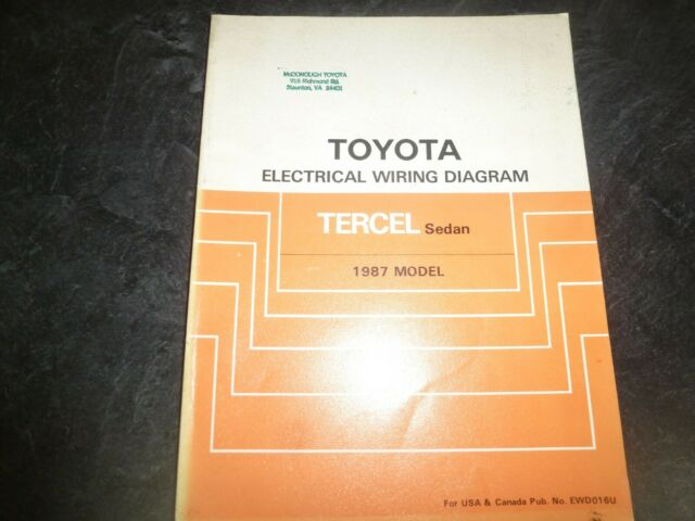 1987 Toyota Tercel Sedan Electrical Wiring Diagrams Manual Dx 1 5l