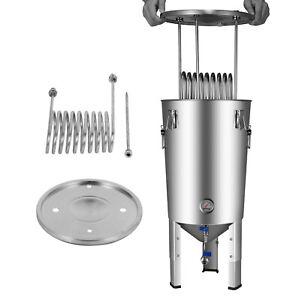 Fermentatore-Conico-per-birra-da-30-Litri-in-acciaio-inox-con-doppia-valvola