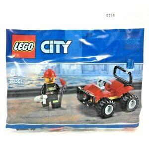 LEGO Set 30361 Fire ATV (39pc/5+/Firefighter Minifigure) NEW/Sealed City Polybag