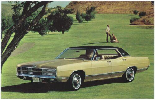 1969 Ford LTD 4-Door HARDTOP Original Dealer Promotional Postcard UNUSED VG+ ^