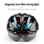 miniature 4 - Ultralight Cycling Helmet Unisex Adult Mountain Bike Bicycle Helmet with Goggles