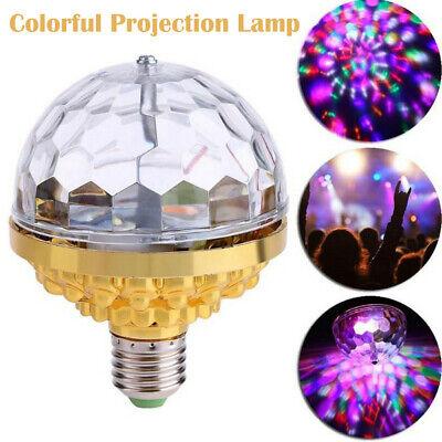 5W RGB Crystal Ball Rotating USB  LED Stage Light Bulbs Disco Party Bulb Lamp