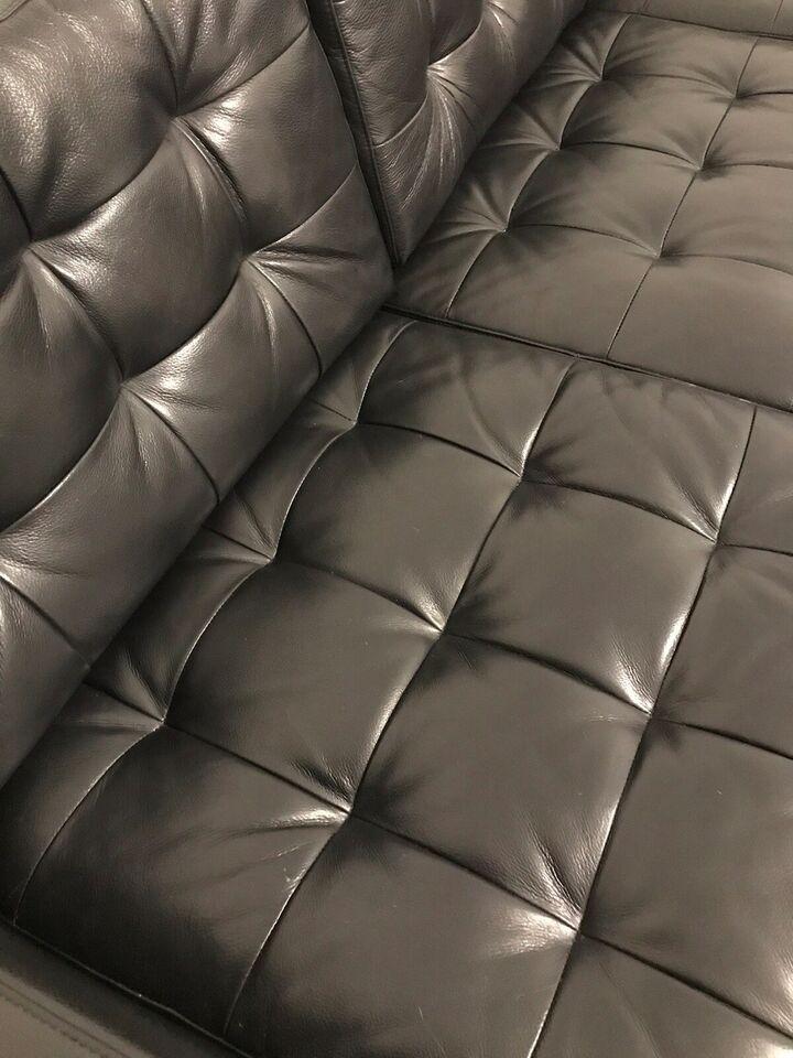 Sofagruppe, læder, 7 pers.