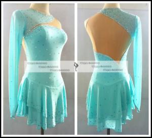 bluee  Marvellous Ice Skating Figure skating Dress Gymnastics Dance Costume Y124  find your favorite here