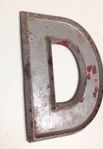 image is loading vintage metal adler silhouette 10 034 marquee letters