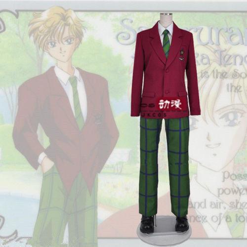PUY53 hot sell Anime Sailor Moon Tenoh Haruka Uranus School Uniform Cosplay