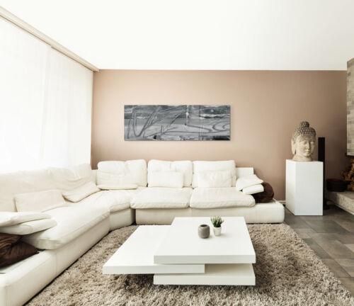 Leinwandbild Panorama schwarz grau weiß Paul Sinus Abstrakt/_508/_150x50cm