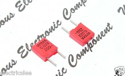 7.5 mm Condensateur 0,022µF 22nF 250 V 5/% Pitch 10pcs-Wima MKP4 0.022uF