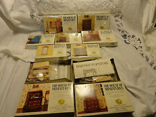 THE HOUSE OF MINIATURES DOLL HOUSE FURNITURE 10 BOXED LOT CHIPPENDALE NEW KITS