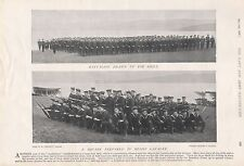 """1897 ANTIQUE MILITARY PRINT-  """"CAMBRIDGE"""",DRAWN UP FOR DRILL, INFANTRY SQUARE"""