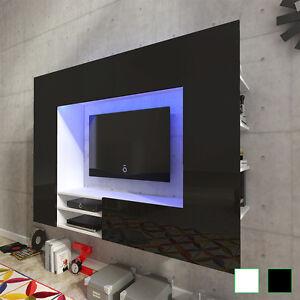 Schon Das Bild Wird Geladen Hochglanz Wohnwand Mediawand Anbauwand  Schrankwand LED TV Wand